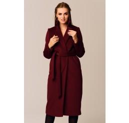 Płaszcz jesienno - zimowy ARIADNA ALPAKA - bordo