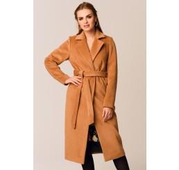 Płaszcz jesienno - zimowy ARIADNA ALPAKA - camel