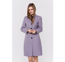 Wiosenny płaszcz wełniany  GRACJA  - wrzos