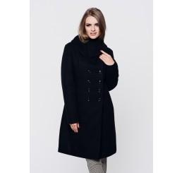 Płaszcz zimowy wełniany SUZANA - czarny