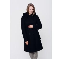 Płaszcz zimowy z kapturem ROZALIA - czarny