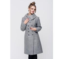 Płaszcz zimowy wełniany SUZANA - melange