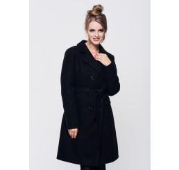 Płaszcz zimowy wełniany LUIZA - czarny