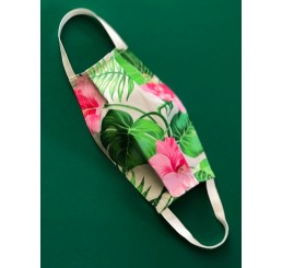 Maska ochronna  dwuwarstwowa - kwiaty