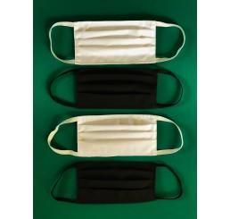 Czteropak masek z kieszonką (2 x biała +2 x czarna)