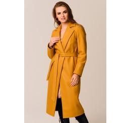 Płaszcz jesienno - zimowy ARIADNA - miodowy