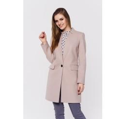 Wiosenny płaszcz wełniany ANITA - jasny beż