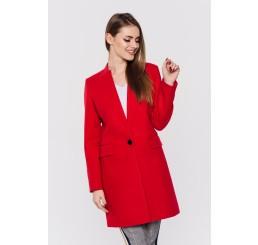 Wiosenny płaszcz wełniany ANITA - czerwony