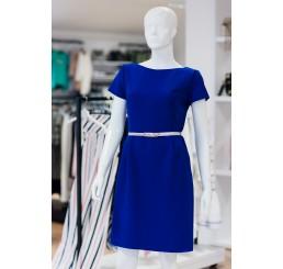 Sukienka letnia z rękawkiem POLA  - chaber