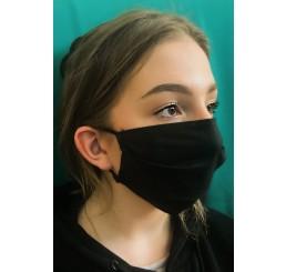 Maska ochronna  dwuwarstwowa (4 szt) - czarna