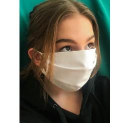 Maska ochronna  dwuwarstwowa (4 szt) - biała