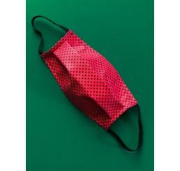 Maska ochronna  dwuwarstwowa - czerwona kropki