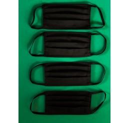 Maska ochronna  dwuwarstwowa z kieszonką (4 szt) - czarna