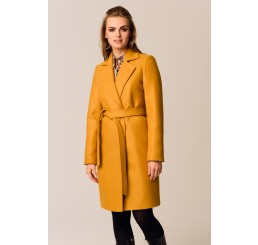 Płaszcz jesienno - zimowy DARIA - miodowy