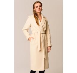 Płaszcz jesienno - zimowy ARIADNA ALPAKA - jasny beż