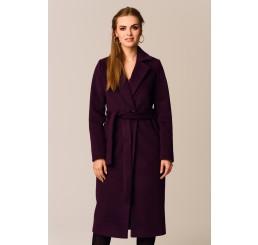 Płaszcz jesienno - zimowy ARIADNA ALPAKA - fiolet