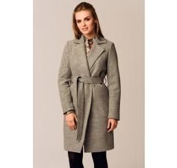 Płaszcz jesienno - zimowy DARIA - popielaty melanż