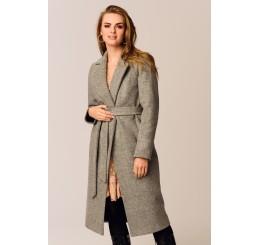 Płaszcz jesienno - zimowy ARIADNA - popielaty melanż